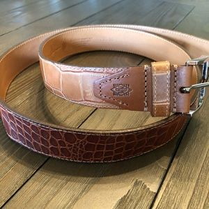 Martin Dingman alligator grain calf belt